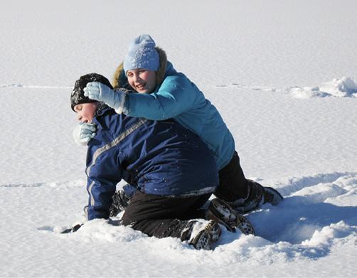 Pause vom Eisfischen in Kanada