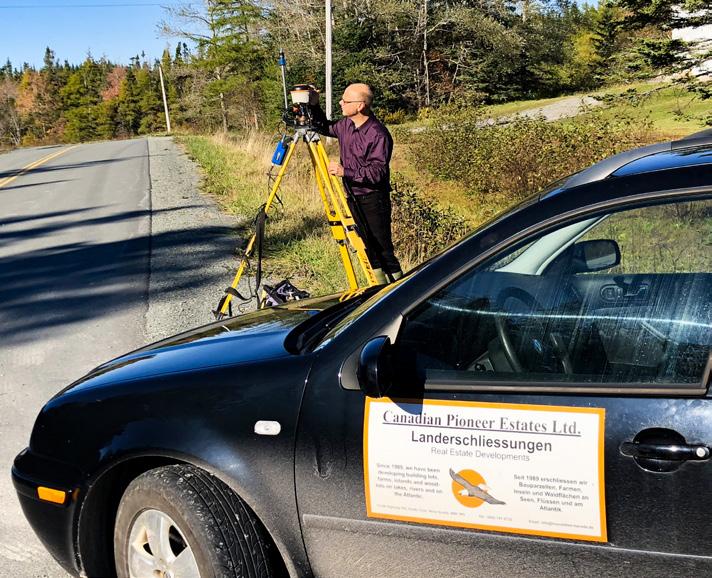 Alle Grundstücke der Canadian Pioneer Estates Ltd. und der CANEC Land Developments Inc. werden grundsätzlich fachmännisch vermessen