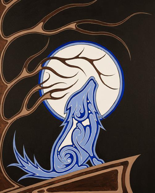 Amanda Julian: Blue wolf
