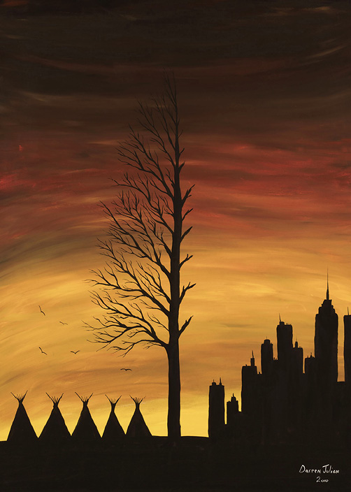 Darren Julian: Orange sky on a half dead tree