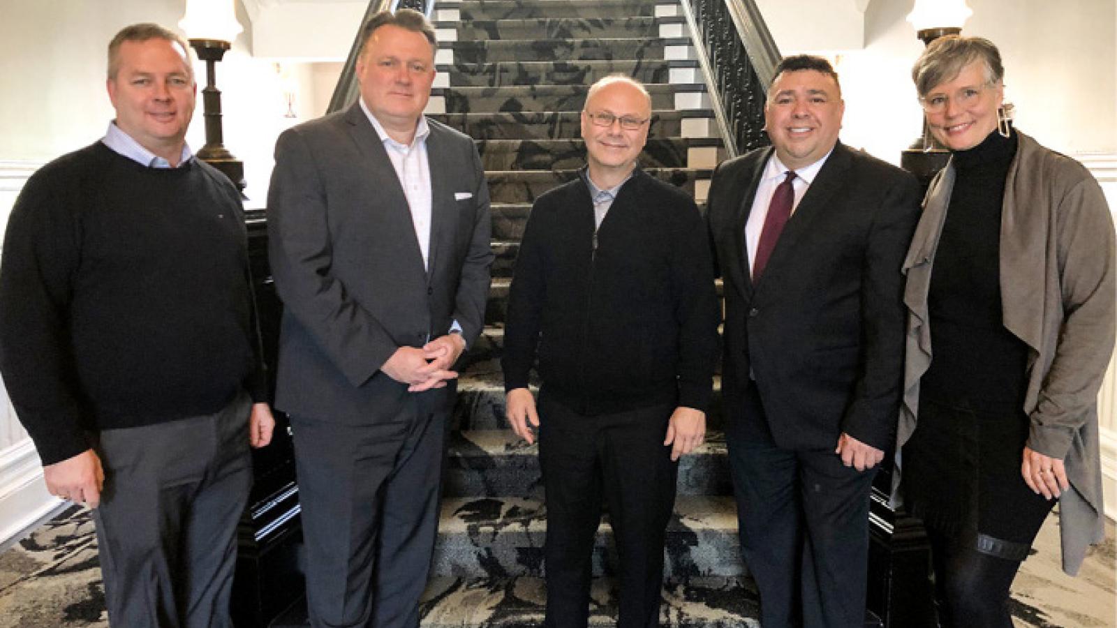 Treffen mit Halifax Bürgermeister Mike Savage und Rolf Bouman