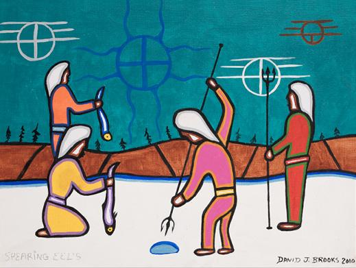 David Brooks: Spearing Eel - Indianische Kunst aus Kanada