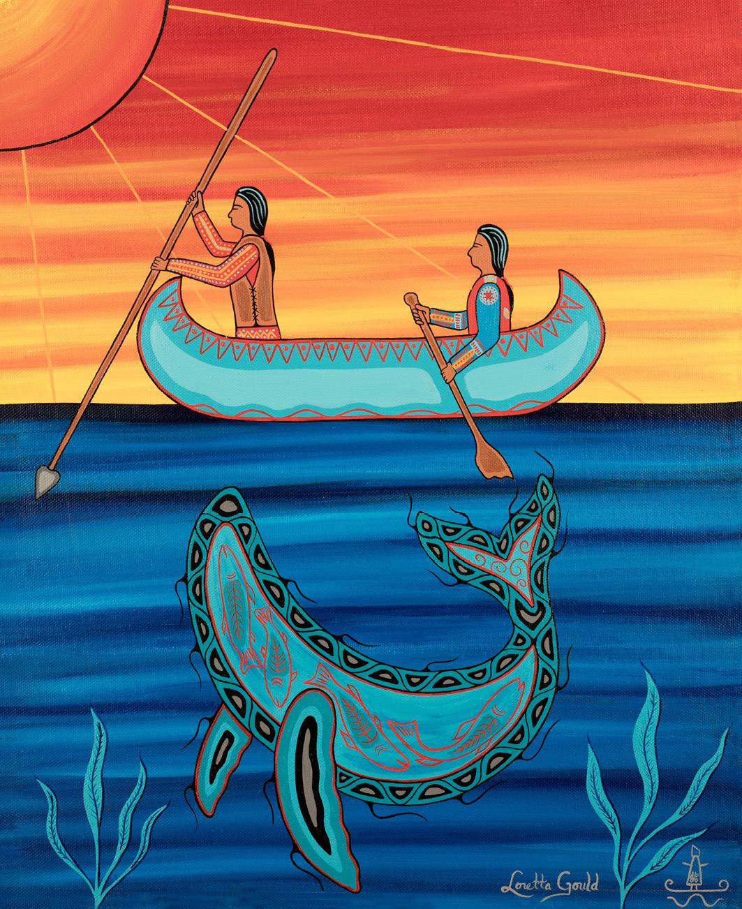 Ein Bild von Loretta Gould - Indianische Kunst aus Kanada
