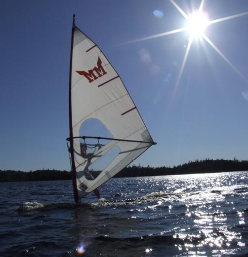 Windsurfen vor dem eigenen Haus auf Cape Breton (Nova Scotia/Kanada)