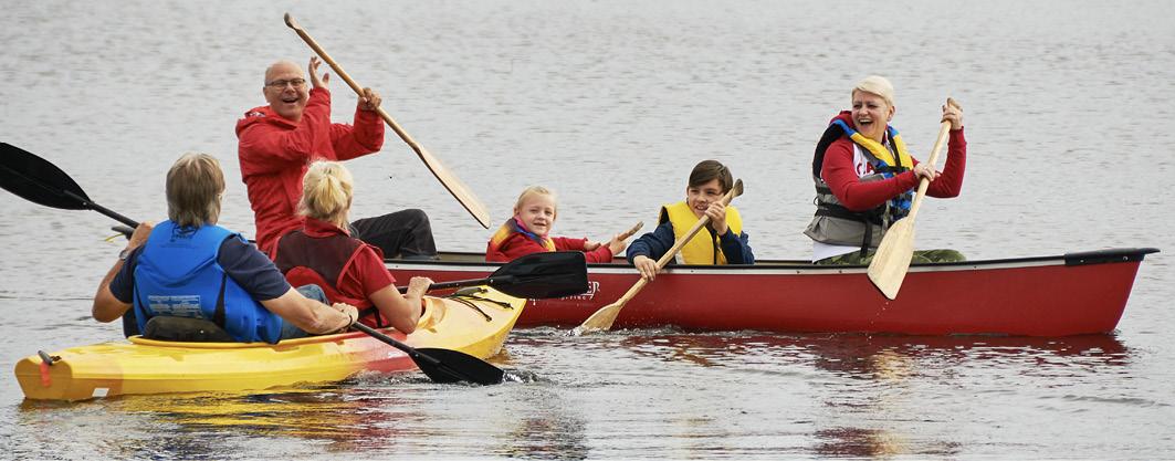 Familienspaß beim Paddeln auf Cape Breton (Nova Scotia/Kanada)