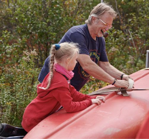 Vorbereitungen zur Kanutour auf Cape Breton (Nova Scotia/Kanada)