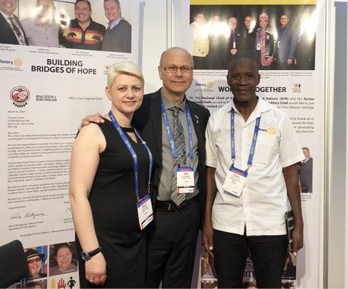 v.l.n.r.: Elena Paul, Rolf Bouman, Twaha Lukwanzi
