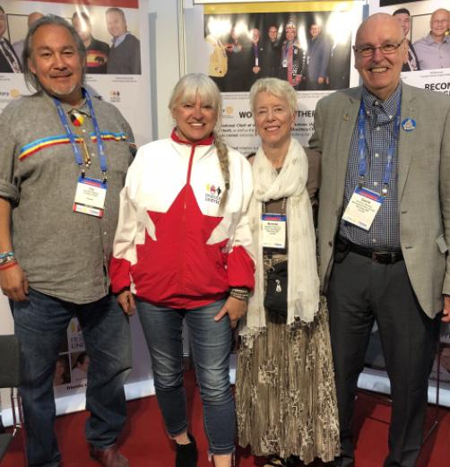 v.l.n.r.: Jay Bell Redbird, Halina Stopyra, Brenda Newman, David Newman