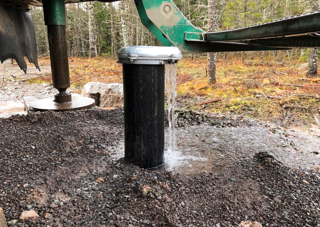 Die Quelle hat eine starke Trinkwasserüberproduktion