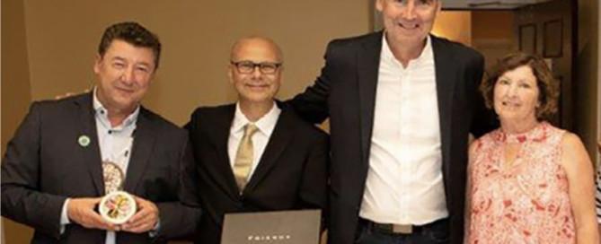 vlnr: Häuptling P.J. Prosper, Buchautor Rolf Bouman, Nova Scotia Premierminister Stephen McNeil, Senatorin Mary Coyle | Foto: Verlagsarchiv