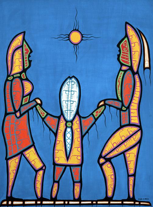David Brooks: Family - Indianische Kunst aus Kanada