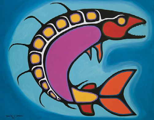 David Brooks: Fish - Indianische Kunst aus Kanada