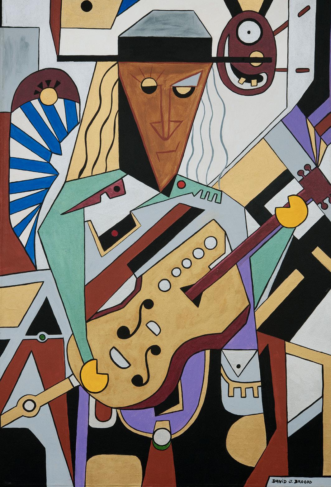 David Brooks: George/Guitar - Indianische Kunst aus Kanada