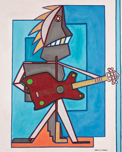 David Brooks: Guitar Man - Indianische Kunst aus Kanada