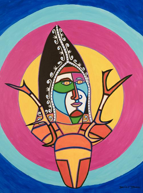 David Brooks: Mi'kmaq Woman - Indianische Kunst aus Kanada