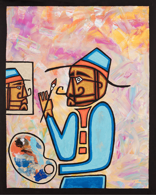 David Brooks: Self-Portraits - Indianische Kunst aus Kana